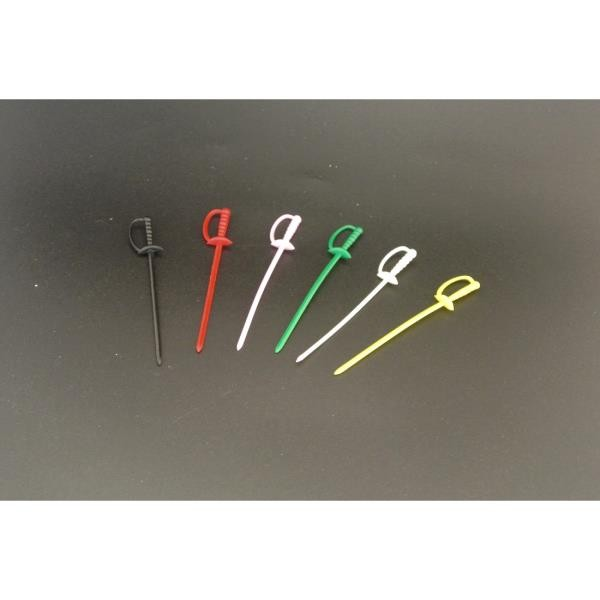 3_5 inch sword picks Assorted Colors (enhanced)